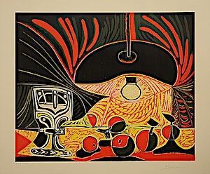 Pablo Picasso, Nature morte sous la Lampe, 1962, 53 x 64 cm