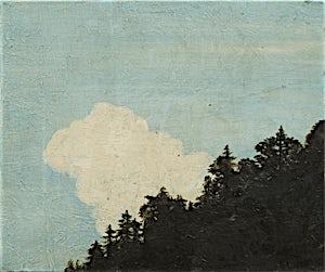 Astrid Nondal, Hvit sky over treranden, 2014, 31 x 37 cm