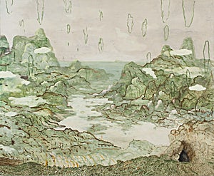 Astrid Nondal, Omvandring/Vest, 2018, 165 x 200 cm
