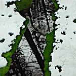 Astrid Nondal: Snø og vann, 2009, 140 x 115 cm
