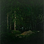 Astrid Nondal: Skognatt, 2009, 170 x 150 cm