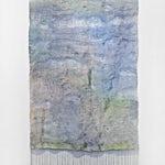 Aurora Passero: Serpentine, hand woven, hand dyed nylon, 2016, 255 x 128 cm