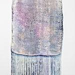 Aurora Passero: Diamondback, hand woven, hand dyed nylon, acrylic tube, 2016, 152 x 69 cm