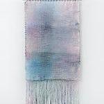 Aurora Passero: Nature Study, hand woven, hand dyed nylon, steel tube, 2021, 187 x 100 cm