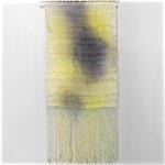 Aurora Passero: Bright Sequences, hand woven, hand dyed nylon, steel tube, 2021, 205 x 100 cm