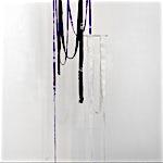 Aurora Passero: Hard Shell #2, #3, hand woven, hand dyed nylon, wool, oyster shell, plaster, aluminum tube, dimensions variable, 2021
