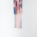 Aurora Passero: Small Event, hand woven, hand dyed nylon, steel tube, 2021