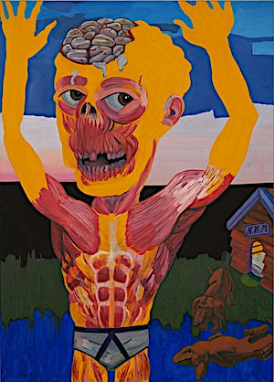Christoffer Fjeldstad, New happy man, 2008, 160 x 115 cm