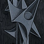 Christoffer Fjeldstad: Grey Skull II, 2021, 62 x 50 cm