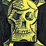 Christoffer Fjeldstad: Yellow Skull, 2020, 50 x 40 cm