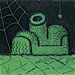 Christoffer Fjeldstad: Green Shoe, 2020, 140 x 160 cm