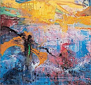 Dag Thoresen, Another world where the sun always shines. To Robert Smith, 2001, 150 x 160 cm