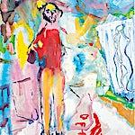 Dag Thoresen: Maleren, 2001, 102 x 79 cm