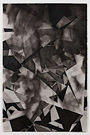 Espen Dietrichson, Walls, Cities, Darkness, Forest, Night #2, 2014, 152 x 103 cm
