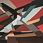 Espen Dietrichson: Arches and distances #5, 2020, 70,5 x 100 cm
