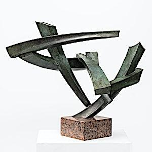 Espen Dietrichson: Unstable Column #2, 2019, 50x44 x 44 cm