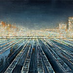 Frank Brunner: Spor, 2019, 120 x 240 cm