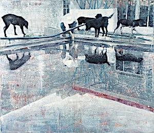 Frank Brunner, the pool #3, 2007, 150 x 175 cm