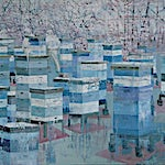 Frank Brunner: Blue Colony, 2008, 142 x 200 cm
