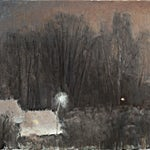 Halvard Haugerud: Desembernatt, 2009, 26 x 33 cm