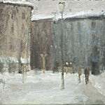 Halvard Haugerud: Vinter i byen, 2010, 24 x 31 cm