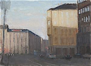Halvard Haugerud, Fra Majorstua, 2009, 27 x 37 cm