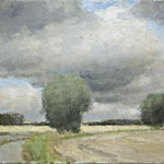 Halvard Haugerud: Kornhøst, 2009, 33 x 48 cm