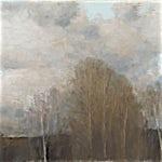 Halvard Haugerud: Skyer og trær, 2010, 40 x 77 cm