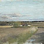 Halvard Haugerud: Vei i kveldslys, 2012, 30 x 38 cm