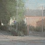 Halvard Haugerud: Nede ved jernbanen, 2011, 27 x 34 cm