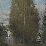 Halvard Haugerud: Bjerk på Skubberud, 2013, 50 x 37 cm