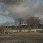 Halvard Haugerud: Nordover fra Kvillerveien, 2014, 33 x 48 cm