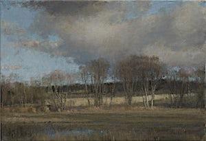 Halvard Haugerud, Nordover fra Kvillerveien, 2014, 33 x 48 cm
