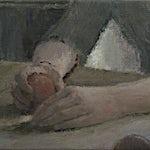 Halvard Haugerud: Pike med ferskner, Hedvig, 2015, 19 x 26 cm