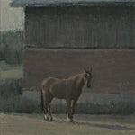 Halvard Haugerud: Hvilende, 2018, 23 x 22 cm