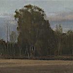 Halvard Haugerud: Lav sol, 2018, 39 x 45 cm