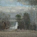 Halvard Haugerud: November på Homstvedt, 2018, 25 x 33 cm