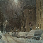 Halvard Haugerud: Vinterstillhet, 2019, 29 x 32 cm