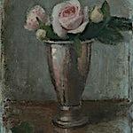 Halvard Haugerud: Roser i grått, 2019, 29 x 23 cm