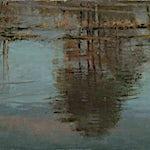 Halvard Haugerud: Speiling i elvevann II, 2020, 22 x 36 cm