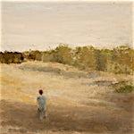 Halvard Haugerud: Gutt i kveldssol, 2005, 27 x 33 cm