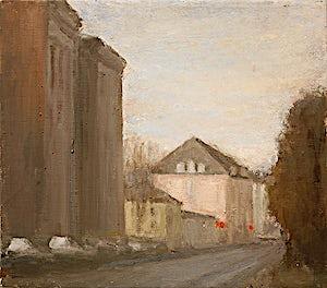 Halvard Haugerud, Stille gate, 2005, 28 x 24 cm