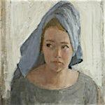 Halvard Haugerud: Blått håndkle, 2007, 35 x 31 cm