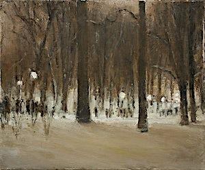 Halvard Haugerud, Fra Slottsparken, 2006, 31 x 37 cm