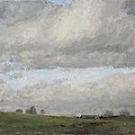 Halvard Haugerud: Landskap om våren, 2006, 45 x 55 cm