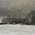 Halvard Haugerud: Vinter på landet, 2007, 31 x 37 cm