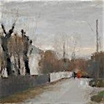 Halvard Haugerud: Våt vei, 2007, 35 x 46 cm
