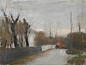 Halvard Haugerud, Våt vei, 2007, 35 x 46 cm