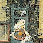 Halvdan Ljøsne: Atelierstol, 1999, 125 x 65 cm