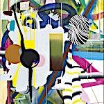 Henrik Placht: Den ville ferden, 2014, 190 x 134 cm
